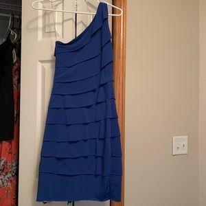 One Shoulder strap - Blue Dress